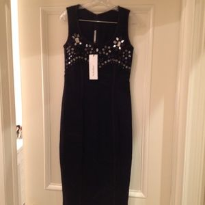 NWT Alessandra Rich Jewel Midi Dress sz S/M sz 44